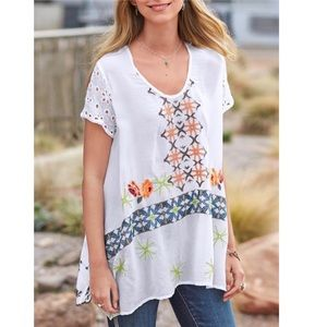 Johnny Was Sundance Tender Promise Embroider Tunic